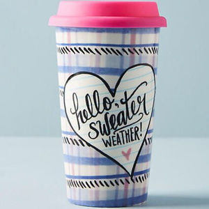 NEW Anthropologie Sweater Weather Lily & Val Mug